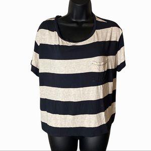 Soft & Sexy American Eagle Black Striped T Shirt